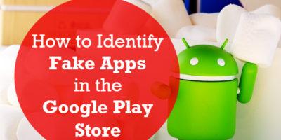 Identified google play store fake app