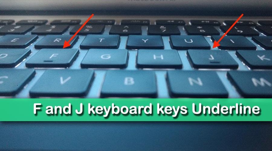 Kyu Hoti Hai Keyboard Key F or J Par Underline