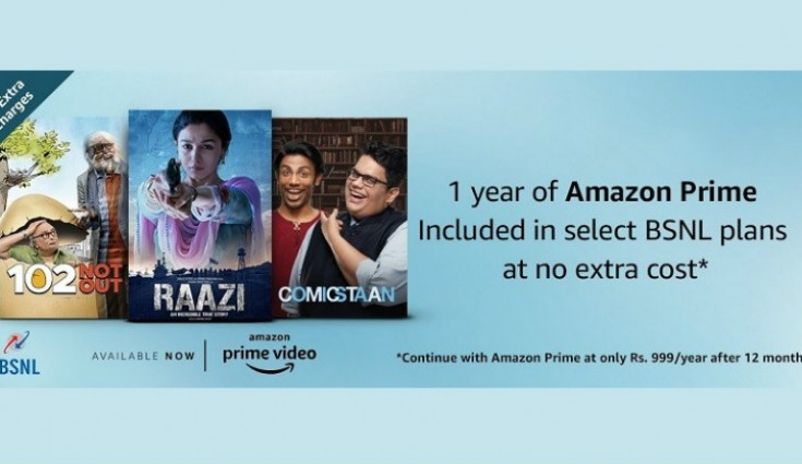 BSNL Broadband Offers Free Amazon Prime Subscription to Postpaid Plan