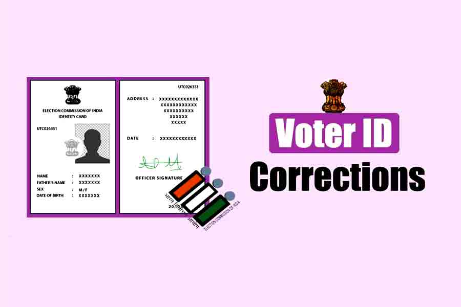 How can I correct my voter ID card online