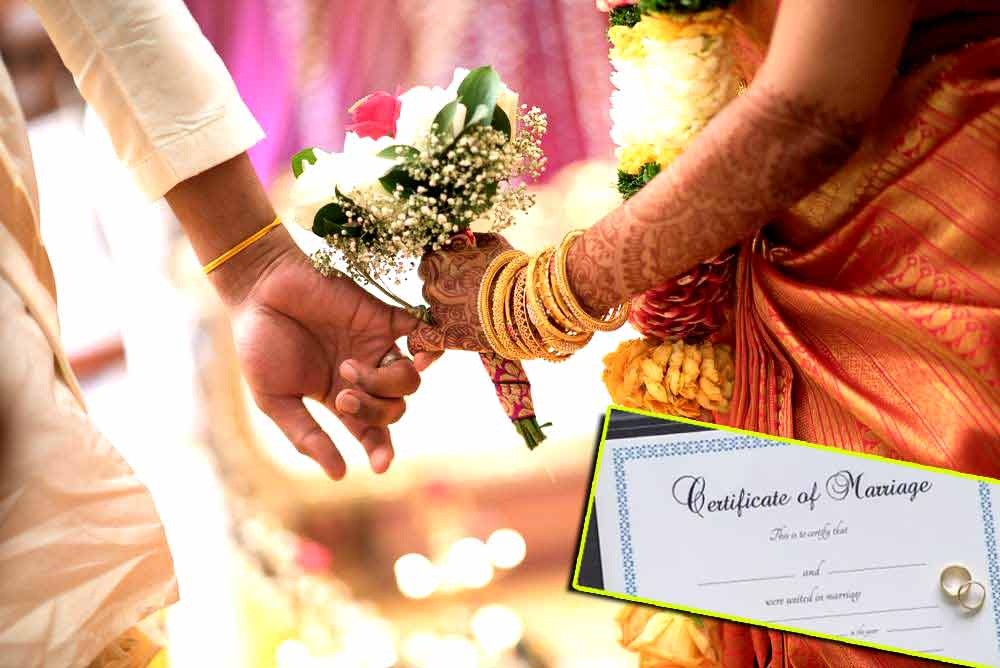 marriage certificate online registration